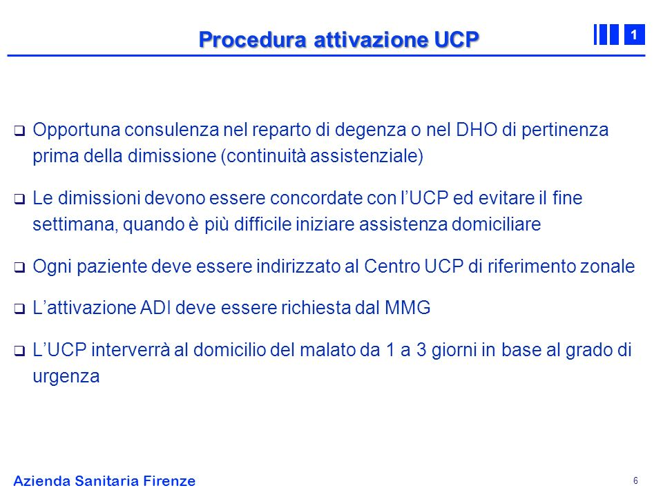 Procedura attivazione UCP