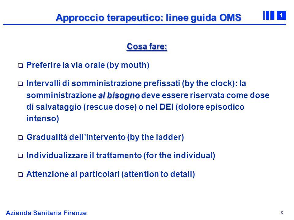 Approccio terapeutico: linee guida OMS