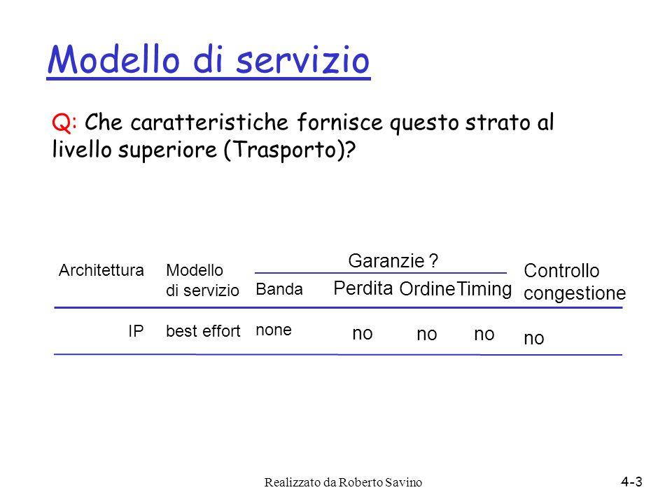 Modello di servizio Q: Che caratteristiche fornisce questo strato al livello superiore (Trasporto)