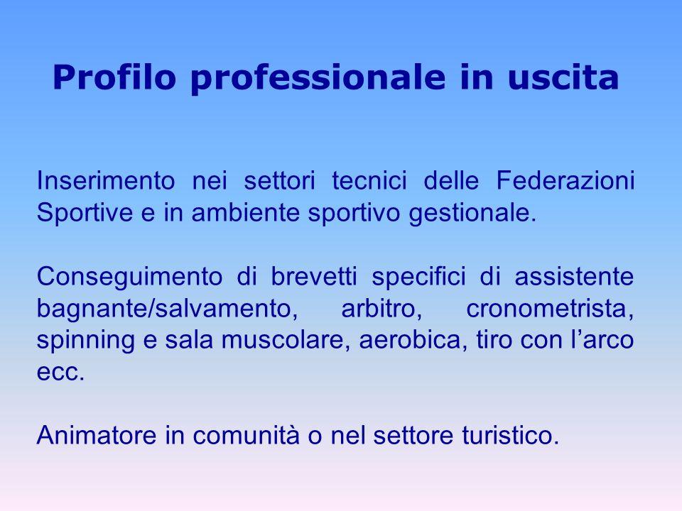 Profilo professionale in uscita