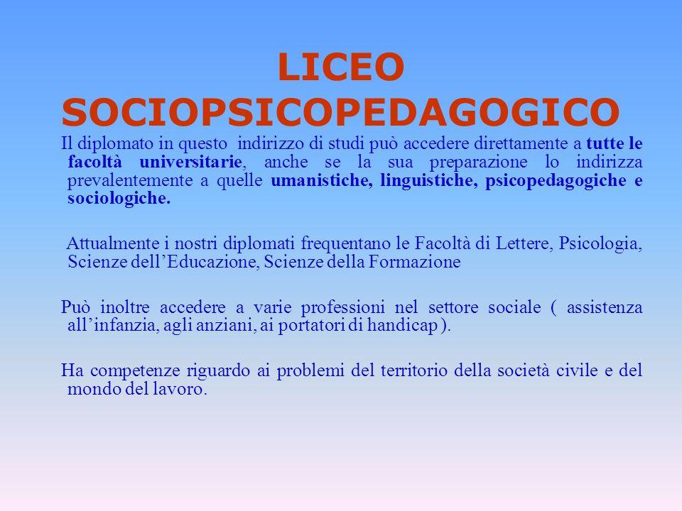 LICEO SOCIOPSICOPEDAGOGICO