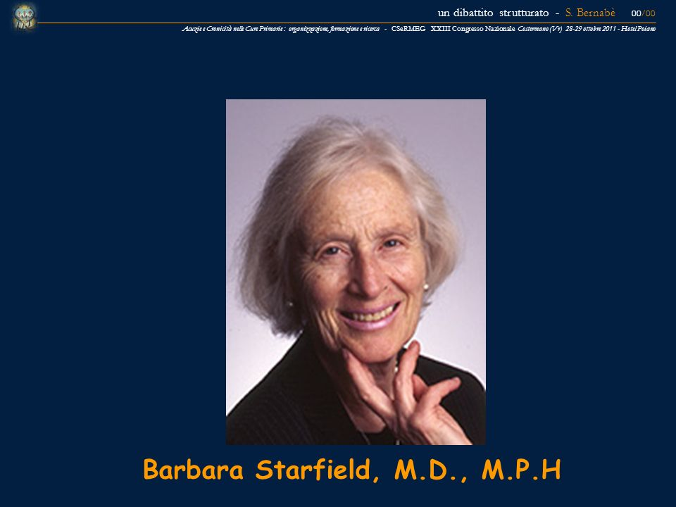 Barbara Starfield, M.D., M.P.H