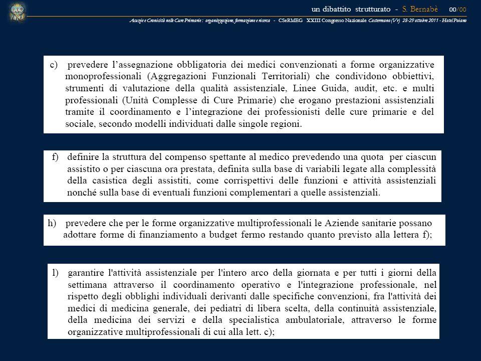 un dibattito strutturato - S. Bernabè