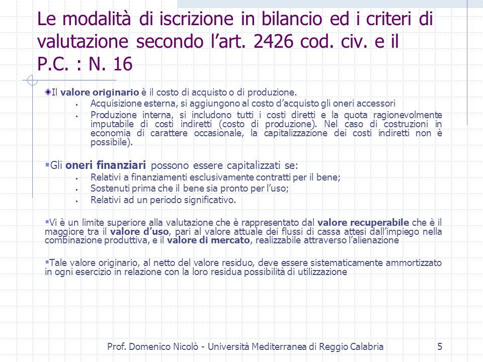 Prof. Domenico Nicolò - Università Mediterranea di Reggio Calabria