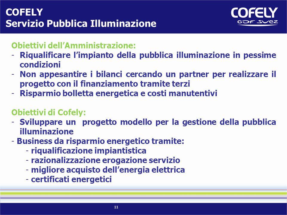 COFELY Servizio Pubblica Illuminazione