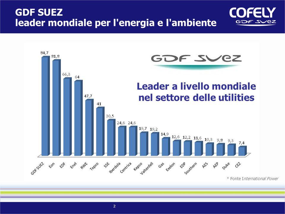 Leader a livello mondiale nel settore delle utilities