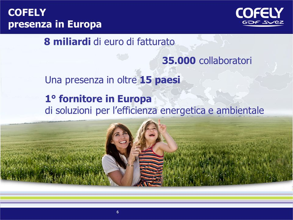 COFELY presenza in Europa