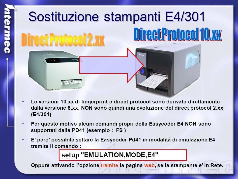 Sostituzione stampanti E4/301