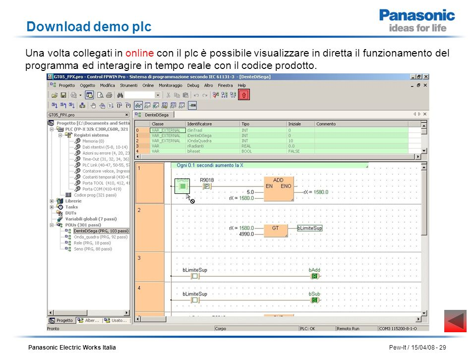 Download demo plc
