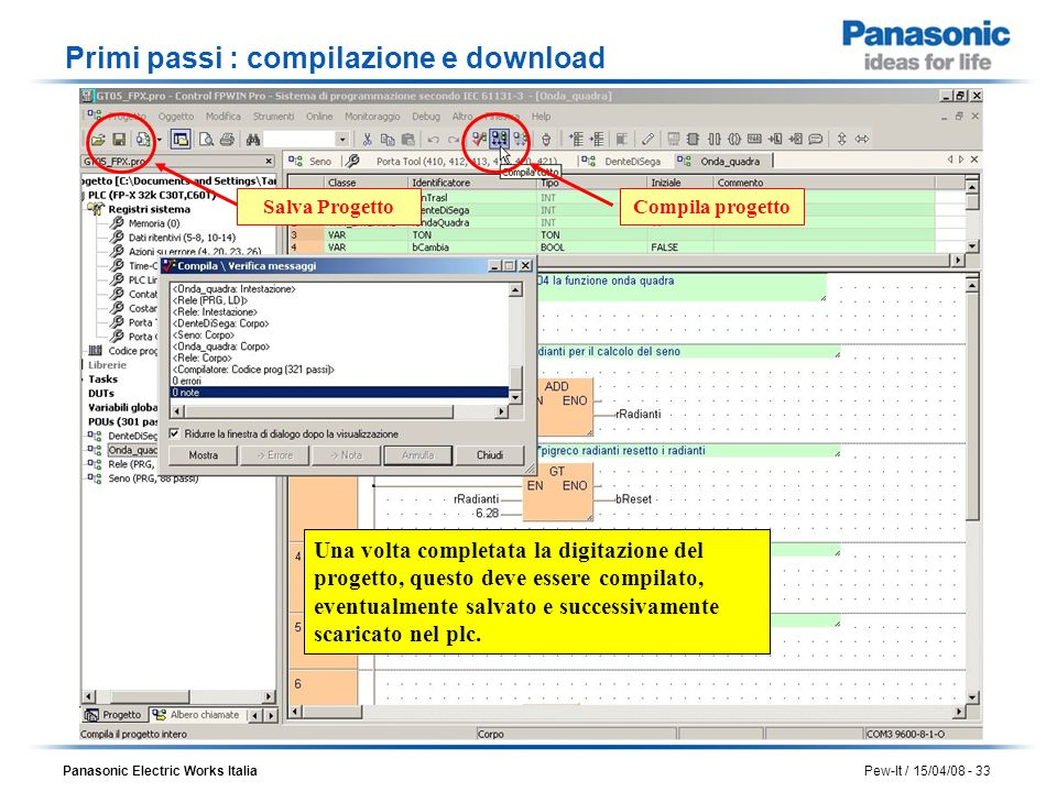 Primi passi : compilazione e download