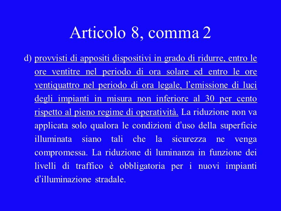 Articolo 8, comma 2