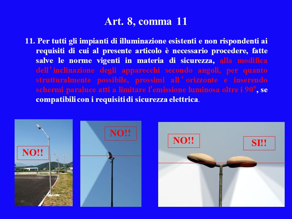 Art. 8, comma 11