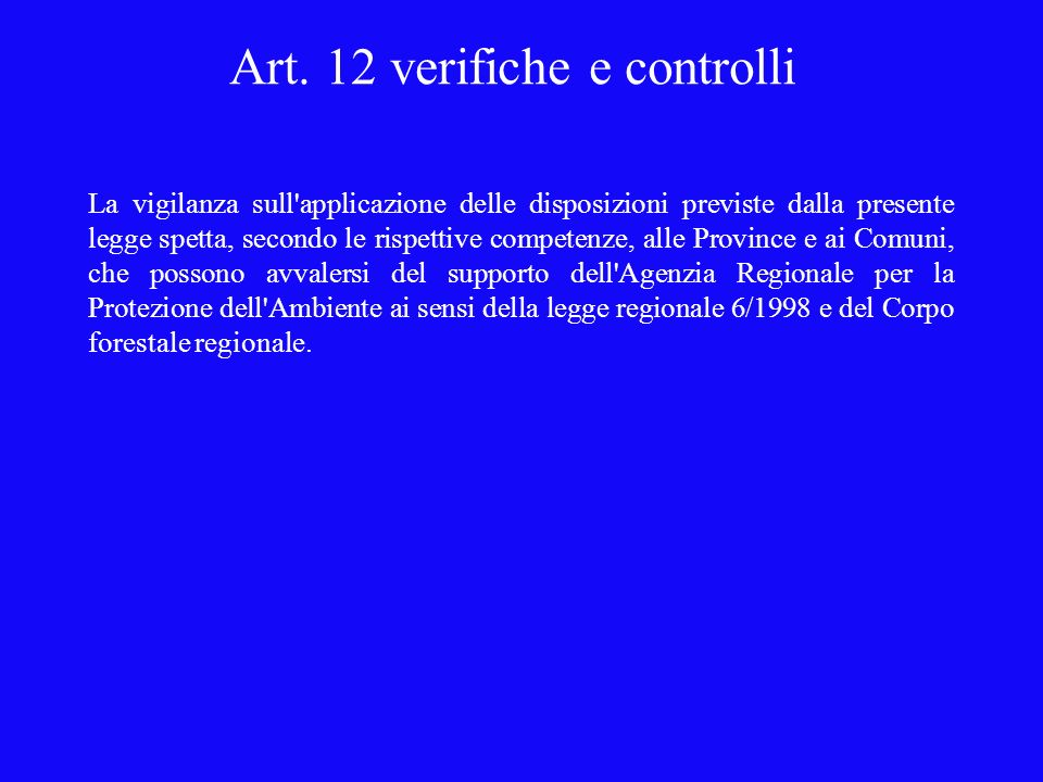 Art. 12 verifiche e controlli
