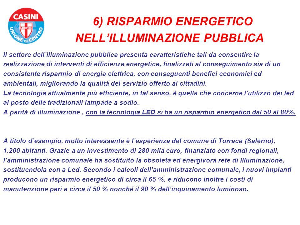 6) RISPARMIO ENERGETICO NELL'ILLUMINAZIONE PUBBLICA