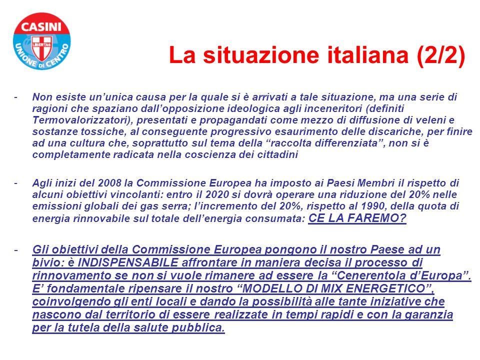 La situazione italiana (2/2)