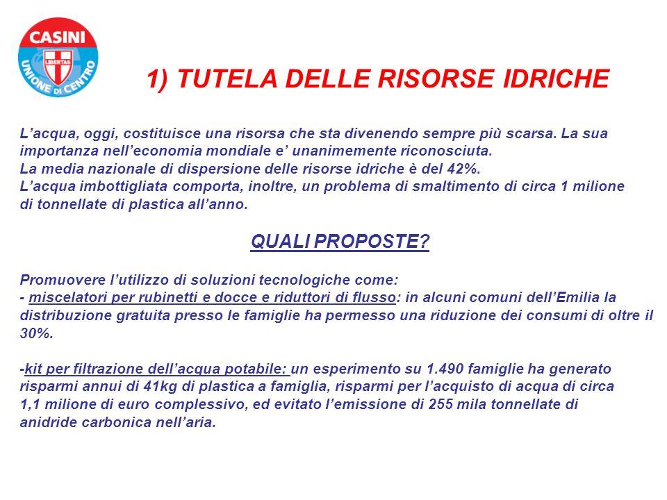 1) TUTELA DELLE RISORSE IDRICHE