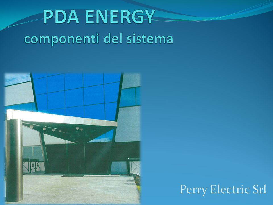 PDA ENERGY componenti del sistema