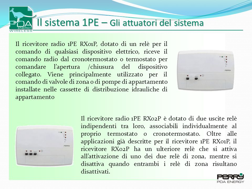 Il sistema 1PE – Gli attuatori del sistema