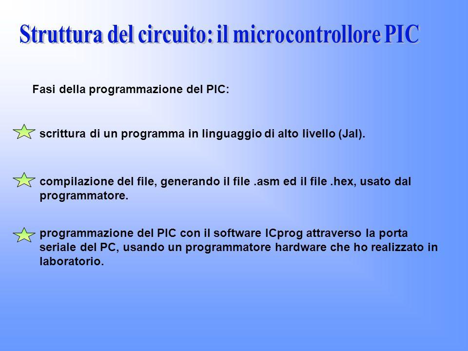 Struttura del circuito: il microcontrollore PIC