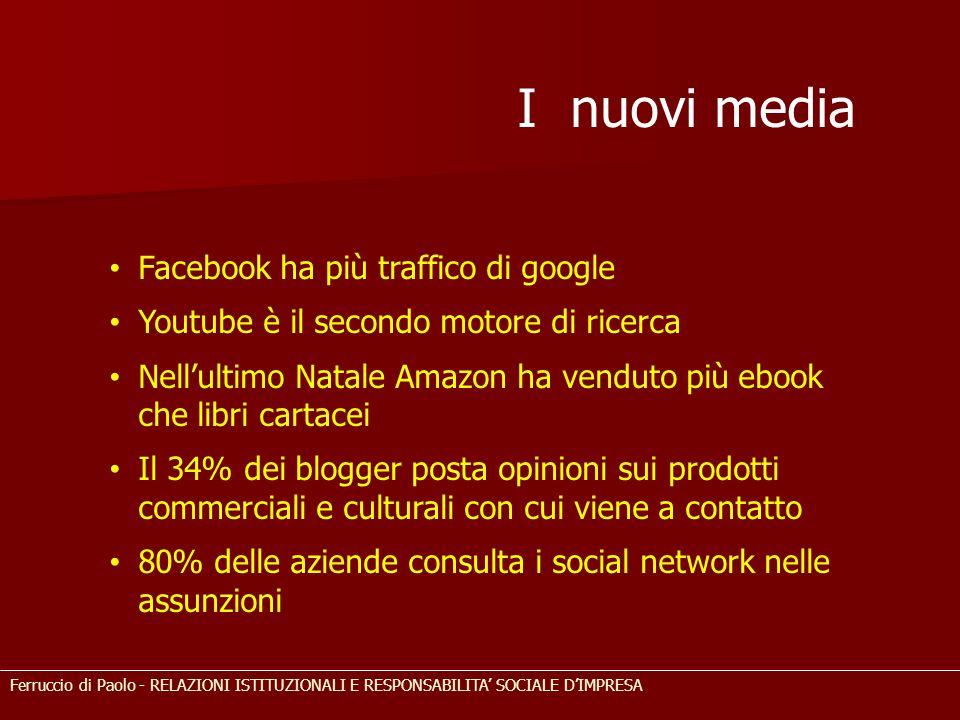 I nuovi media Facebook ha più traffico di google