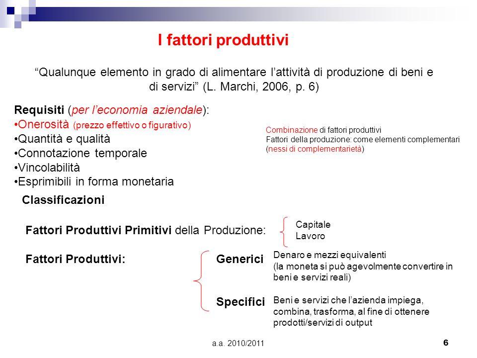 di servizi (L. Marchi, 2006, p. 6)
