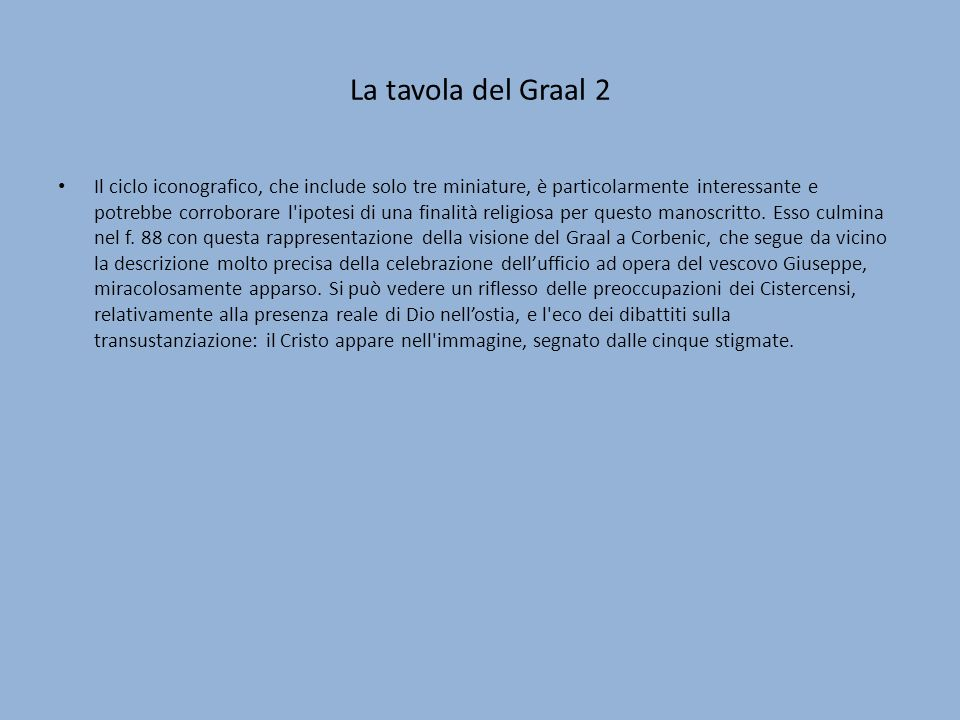 La tavola del Graal 2