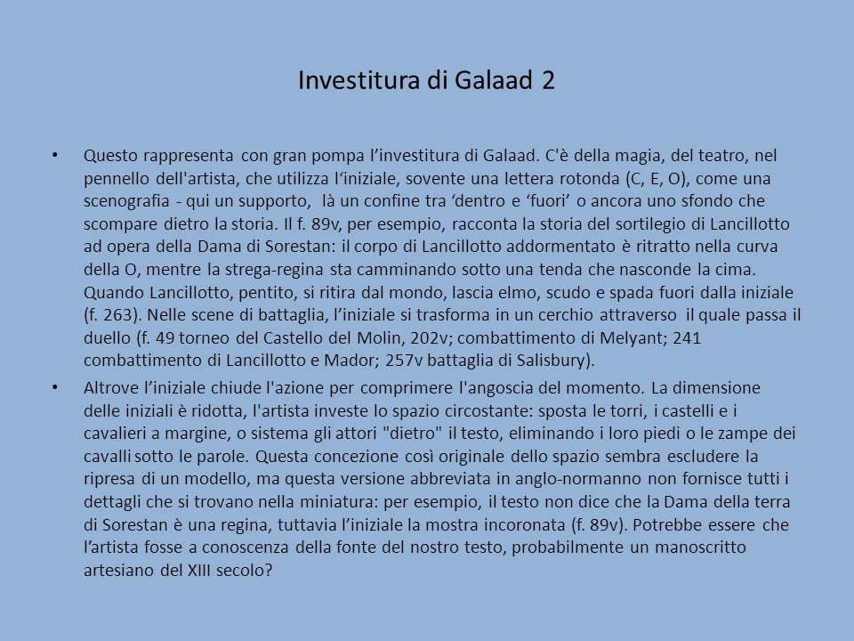 Investitura di Galaad 2