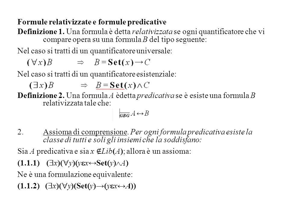 Formule relativizzate e formule predicative