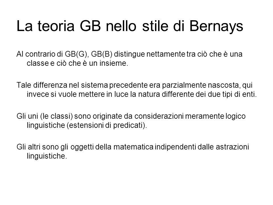 La teoria GB nello stile di Bernays