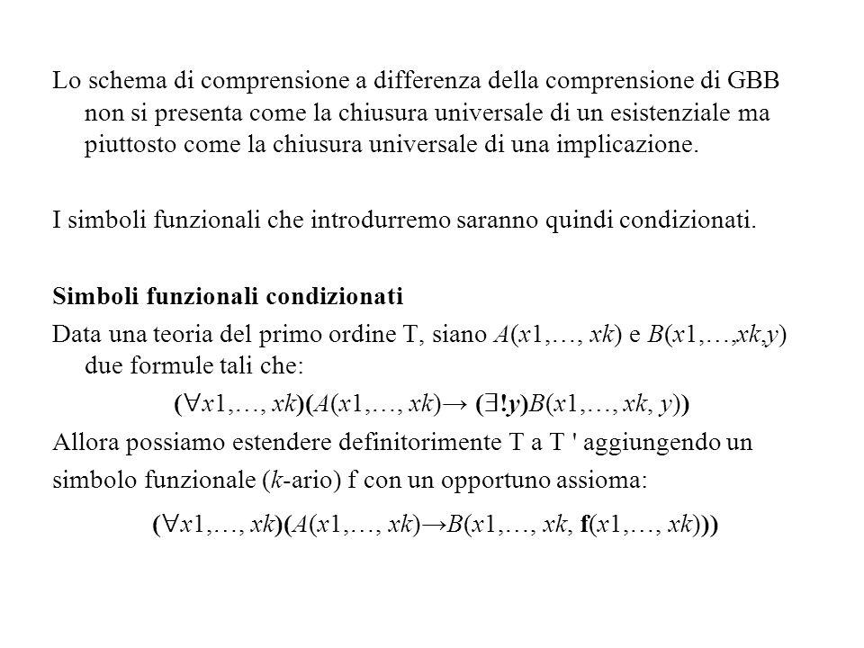 I simboli funzionali che introdurremo saranno quindi condizionati.