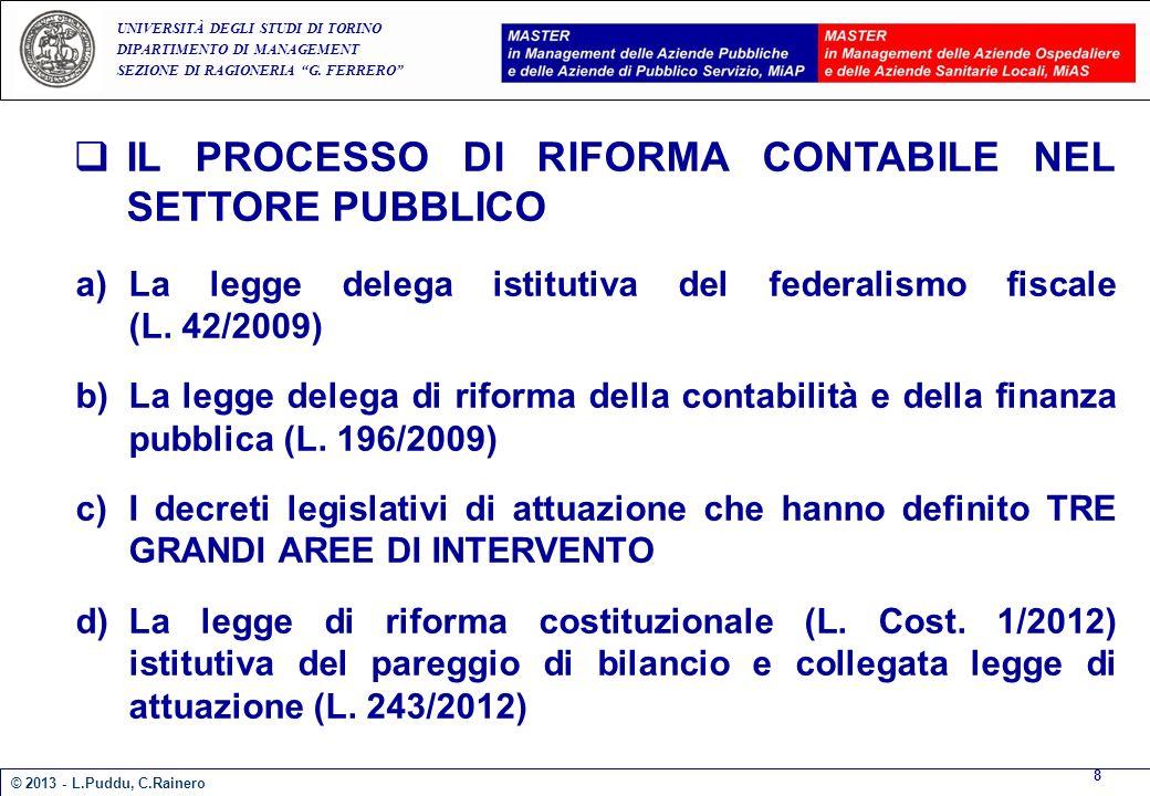 IL PROCESSO DI RIFORMA CONTABILE NEL SETTORE PUBBLICO