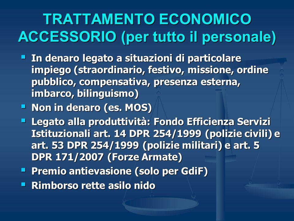 TRATTAMENTO ECONOMICO ACCESSORIO (per tutto il personale)