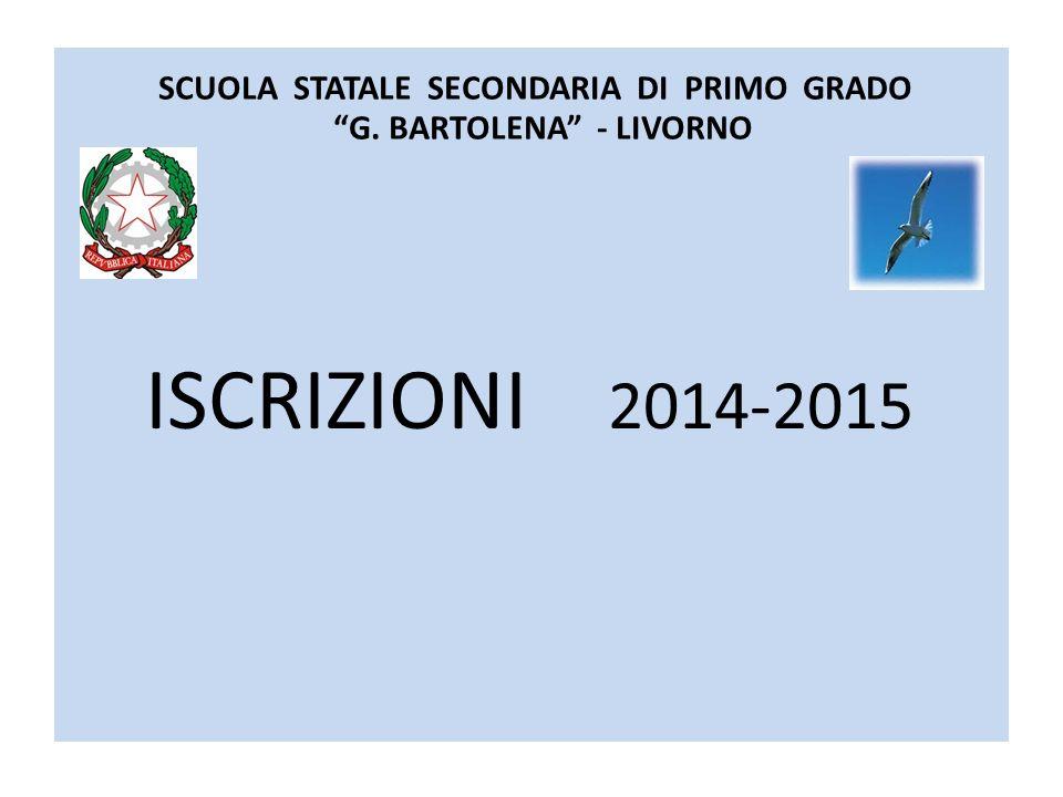 SCUOLA STATALE SECONDARIA DI PRIMO GRADO G. BARTOLENA - LIVORNO