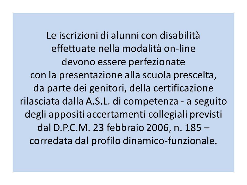 Le iscrizioni di alunni con disabilità