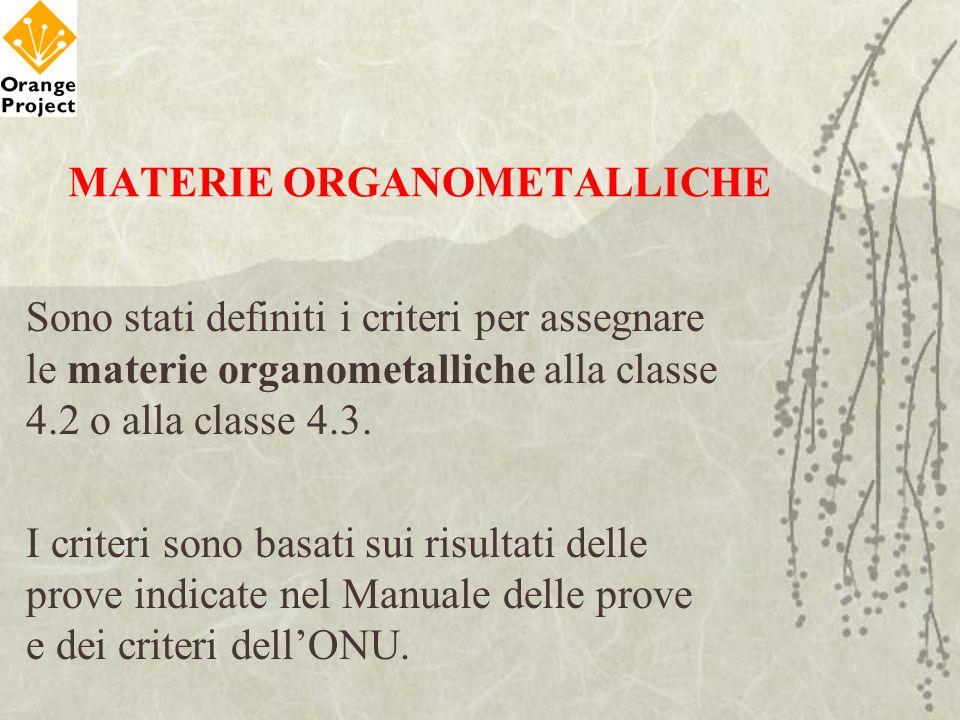 MATERIE ORGANOMETALLICHE