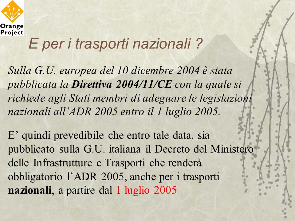 E per i trasporti nazionali