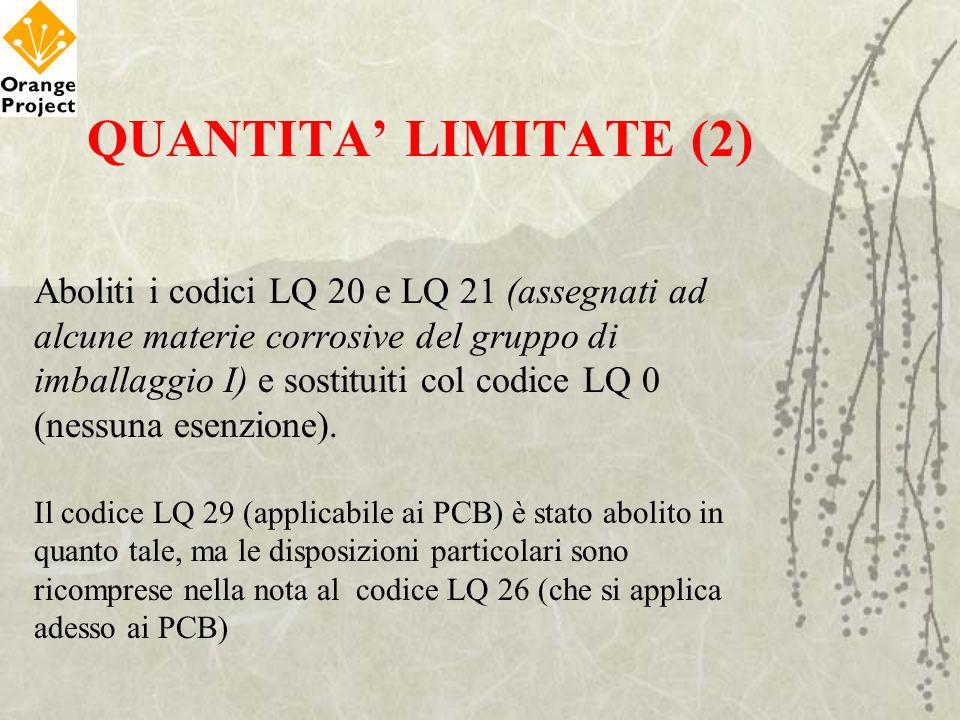 QUANTITA' LIMITATE (2)