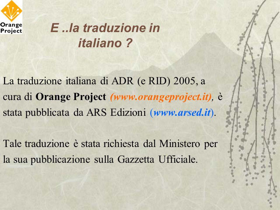 E ..la traduzione in italiano
