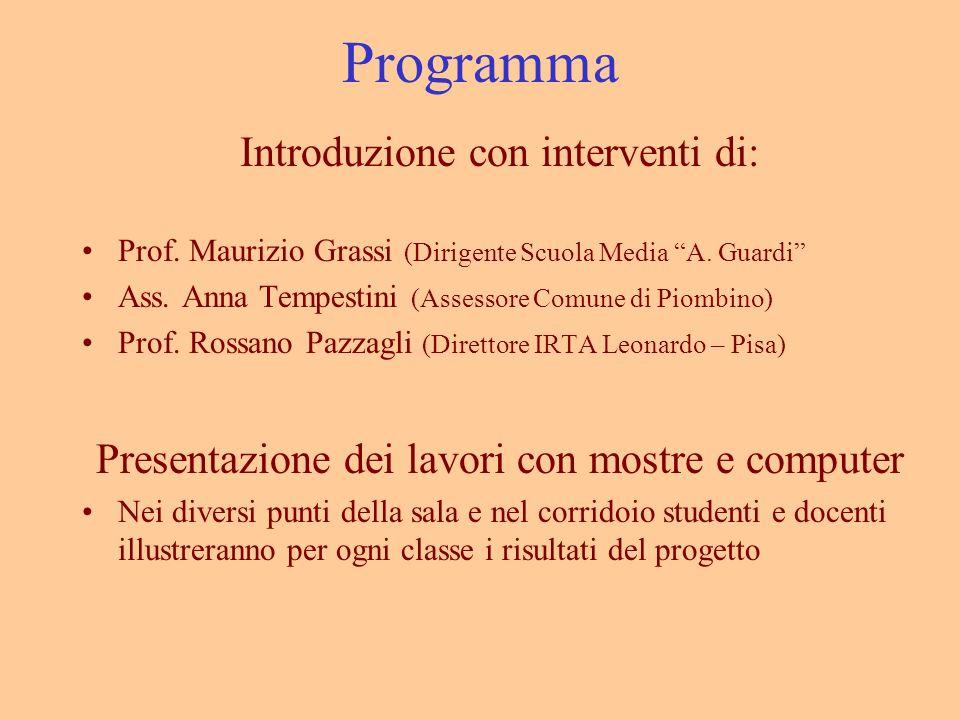 Programma Introduzione con interventi di: