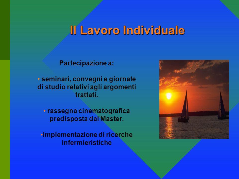 Il Lavoro Individuale Partecipazione a: