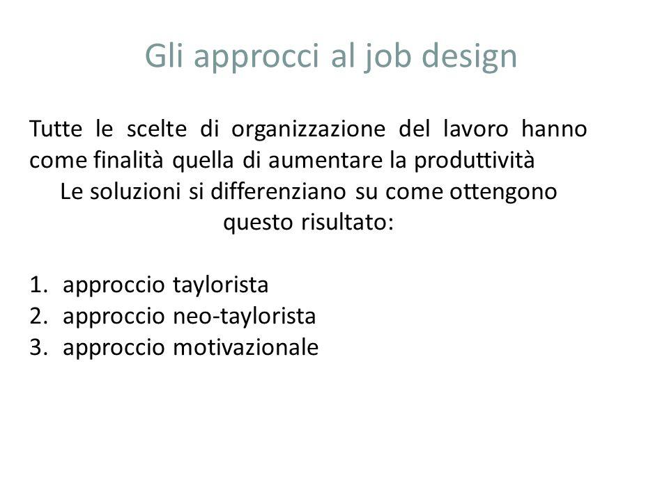Gli approcci al job design