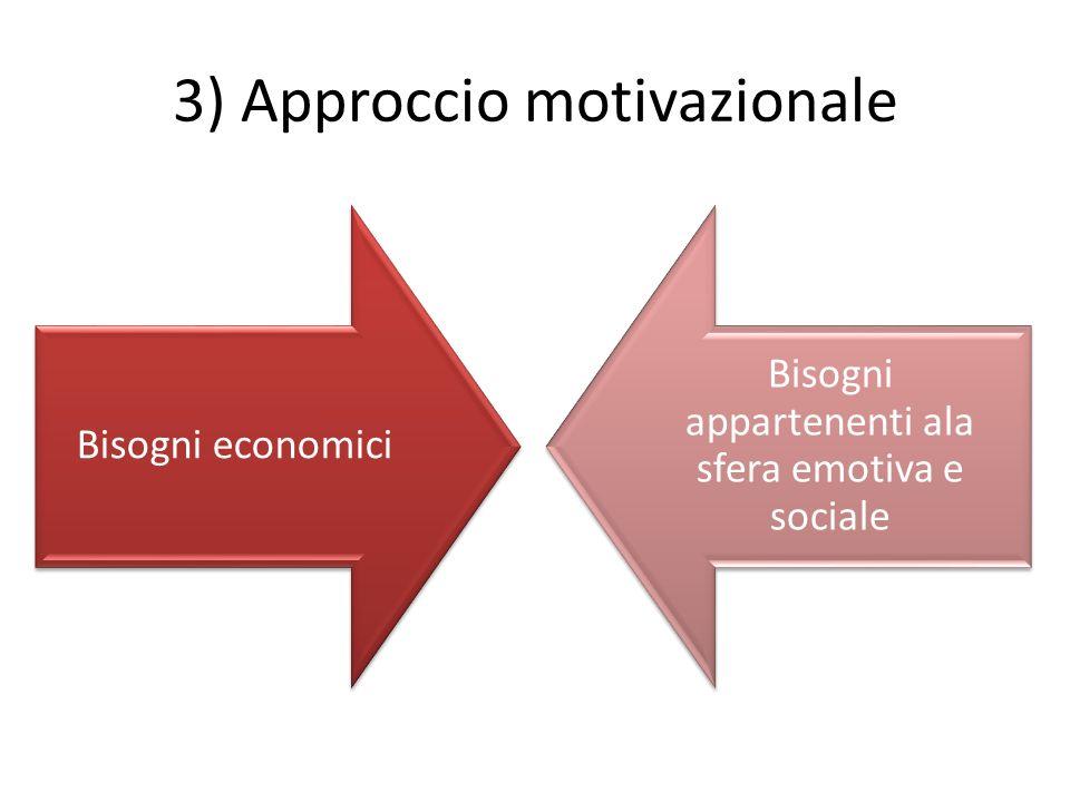 3) Approccio motivazionale