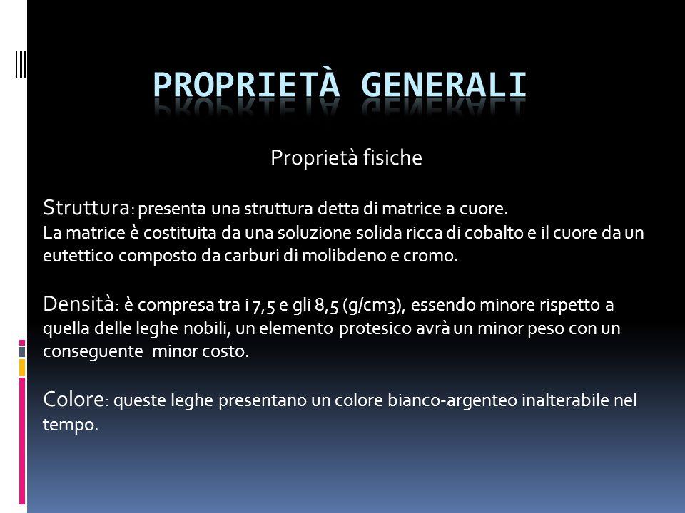 Proprietà generali Proprietà fisiche