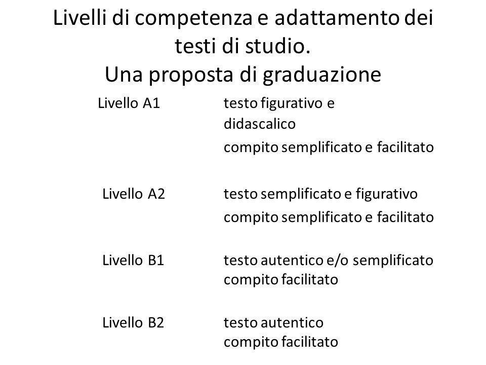 Livelli di competenza e adattamento dei testi di studio