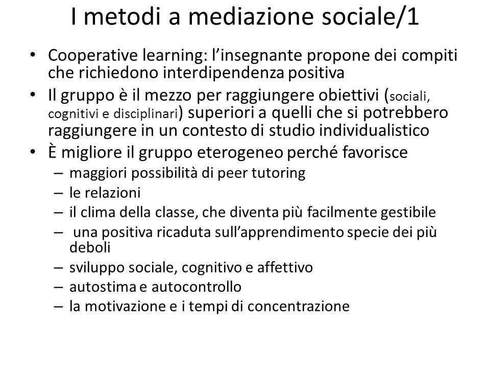 I metodi a mediazione sociale/1