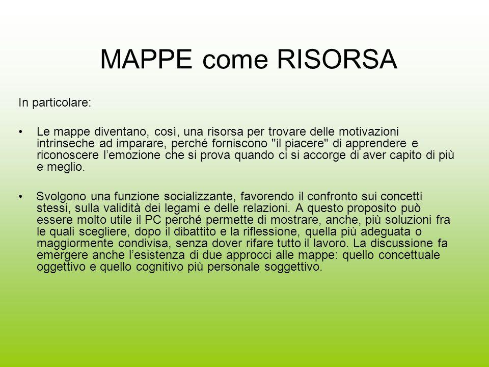 MAPPE come RISORSA In particolare: