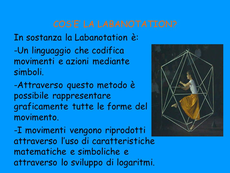COS'E' LA LABANOTATION
