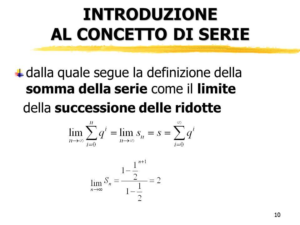 Introduzione al concetto di serie