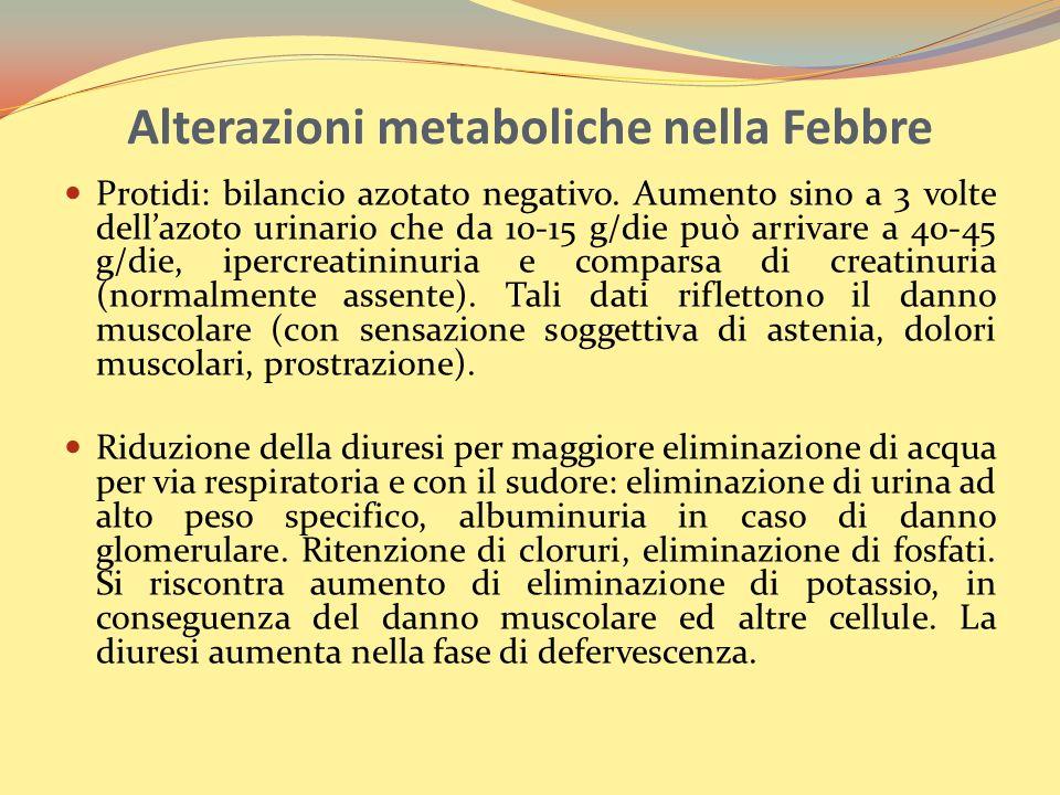 Alterazioni metaboliche nella Febbre