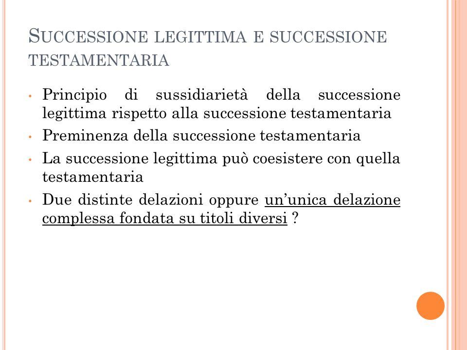 Successione legittima e successione testamentaria